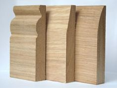 Oak Veneered Skirting Board - only a timber expert can tell the difference, but they are easily half the price of hardwood oak.