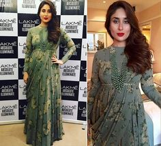 The two hotties, one from Pakistan and one from India, Sanam Jung and Kareena Kapoor give Style Goals to Pregnant women. See their recent pictures. Indian Party Wear, Indian Wedding Outfits, Indian Outfits, Indian Wear, Wedding Dress, Indian Gowns, Indian Attire, Pakistani Dresses, Lara Dutta