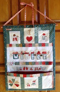 Mini Quilt I love winter de Pitimini Cose
