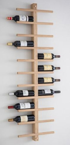 Trouva: Vertical Oak Wine Rack