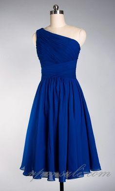 One Shoulder Natural Waist A-line Short Bridesmaid Dress VPBNA100 [VPBNA100] - $118.75 : $70-$90 cheap bridesmaid dresses free shipping-V.P