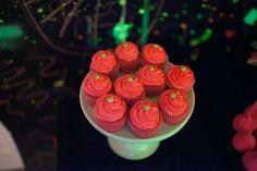 Neon 80's cupcakes