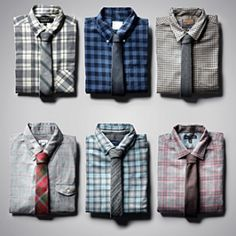 Today's fitted flannel shirts are presentable enough for work, with or without a tie.