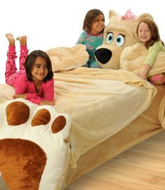 Incredibeds - This is SO cute - it goes over a twin mattress - It is like a giant stuffed animal bed!!!! (do you think they make it in a california king?)