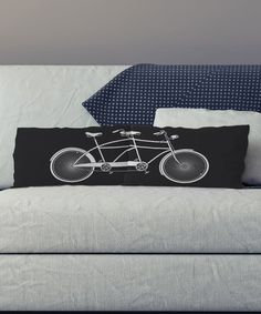 This Black & White Tandem Bike Pillow Pair - Set of Two is perfect! #zulilyfinds