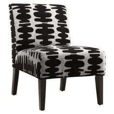 Decor Black and Light Grey Lounge Chair.