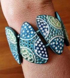 Bracelet, Ocean breeze | by Beadelz polymer crea's