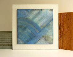 Original abstract wood painting mixed media art by catchaleaf