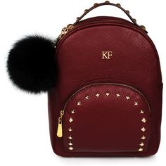 Leather Backpack, Leather Backpack Women, Genuine Leather Marsala... (230 AUD) ❤ liked on Polyvore featuring bags, backpacks, day pack backpack, knapsack bag, daypack bag, real leather bags and red leather bag