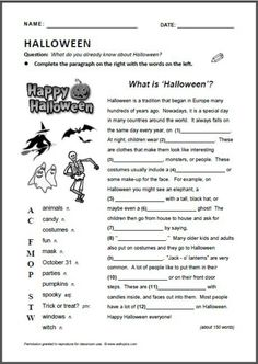 What is Halloween? English Class, English Lessons, Teaching English, Learn English, Halloween Worksheets, Halloween Activities, Halloween Games, What Is Halloween, Teaching