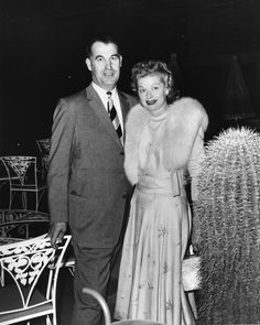 Lucille Ball and Palm Springs Mayor Frank Bogert at the Canyon Country Club in Palm Springs, CA circa 1950's.