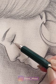 Drawing a Side Portrait Video - pencil-drawings Pencil Art Drawings, Realistic Drawings, Art Drawings Sketches, Cartoon Drawings, Easy Drawings, Indie Drawings, Side Portrait, Art Du Croquis, Sketch Painting