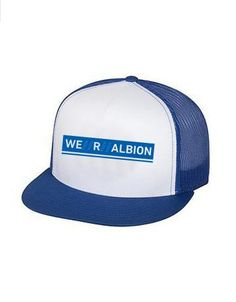 purchase cheap 83495 aa421 WE  R  ALBION Snapback Trucker Hat - Royal Blue White