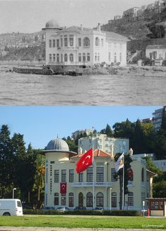 90 yıl önce,90 yıl sonra. İzmir Devlet Tiyatrosu... Istanbul, Greece, Nostalgia, Old Things, Mansions, House Styles, Pictures, Landscapes, Greece Country