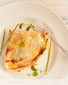 Receta de crêpes de puerros Cool Things To Make, Food To Make, Crepes Rellenos, Waffles, Pancakes, Whats For Lunch, Lasagna, The Best, Tasty