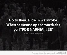 not exactly a movie quote but i was looking for quotes from narnia and i found this and didn't know where to put it . Totally wanna do this next time i go to ikea!!