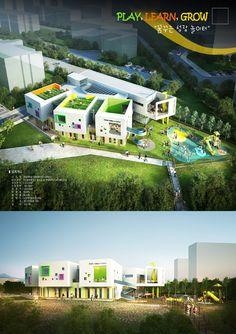 Concept Models Architecture, Futuristic Architecture, School Architecture, Architecture Photo, School Building Design, School Design, Kindergarten Design, Interior Design Sketches, Archi Design
