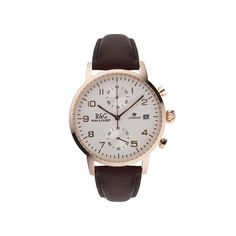 Westminster in English Rose Gold with a Brown Strap. Watch collections by Ryan & Gilbert Westminster, Luxury Watches, Chronograph, Rose Gold, Collections, Stylish, Brown, Silver, Accessories