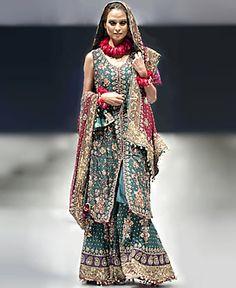 D2559 Sharara Collection, Pakistani Bridal Sharara, Green Bridal Sharara Lehenga, Pakistan Bridal Clothing Bridal Wear