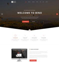 Bino Free Landing Page Website Template, #Free, #Landing_Page, #Layout, #PSD, #Resource, #Template, #Web #Design