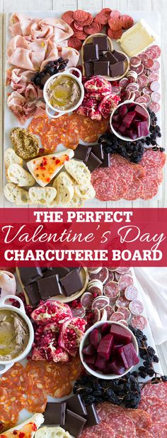 How to build the perfect Valentine's Day Charcuterie and cheese board with choco. How to build the perfect Valentine's Day Charcuterie and cheese board with chocolate + a s. Charcuterie Recipes, Charcuterie And Cheese Board, Cheese Boards, Valentines Day Food, Best Appetizers, Appetizer Recipes, Easter Recipes, Holiday Recipes, Chocolate San Valentin