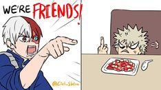 I cant stop laughing My Hero Academia Shouto, My Hero Academia Episodes, Hero Academia Characters, Comic Anime, Manga Anime, Funny Anime Pics, Anime Meme, Animes On, Me Too Meme