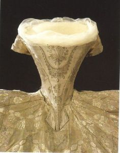 mimic-of-modes:  tiny-librarian:  Closeups of the front and back of the bodice part of the wedding gown of Hedwig Elisabeth Charlotte of Holstein-Gottorp, Queen of Sweden and Norway. Source  Such an urge to comment on her impressively small waist just to annoy people.