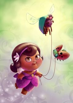 Cute Li'l Fat Fairy by *BetterthanBunnies on