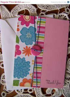 CIJ Thank You Note Greeting Card by EllieMarieDesigns on Etsy, $2.80