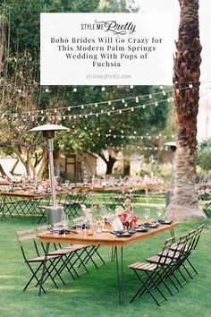Calling all boho brides! 🌺  On SMP, we're sharing a cheerful Palm Springs wedding that will leave you swooning over mature palm trees and giant succulents!  Photography: @ashleyraestudio #bohowedding #bohobride #tropicalwedding #modernwedding Vintage Wedding Theme, Boho Wedding, Garden Wedding, Outdoor Furniture Sets, Outdoor Decor, Boho Bride, Going Crazy, Wedding Inspiration, Wedding Ideas