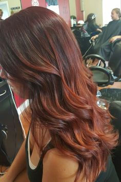 27 Fall Hair Color Trends Brick Brown Hair Colors - All For Hair Color Balayage Auburn Balayage, Brown Hair Balayage, Hair Color Balayage, Hair Highlights, Red Balyage, Balayage Brunette, Brown Highlights, Red Ombre Hair, Ombre Hair Color