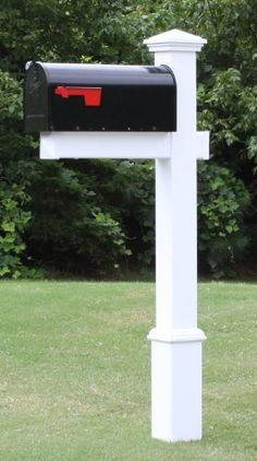 like this, but with a white mailbox. The Homestead Vinyl / PVC Mail Post - White (Includes Mailbox), http://www.amazon.com/dp/B004EFK5QG/ref=cm_sw_r_pi_awd_6d8lsb0QBDTG4