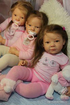 Три сестры - куклы реборн из молда Camilla / Куклы Реборн Беби - фото, изготовление своими руками. Reborn Baby doll - оцените мастерство / Бэйбики. Куклы фото. Одежда для кукол
