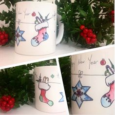 Xmas&Happy New Year Socks OrganiCraft Mug