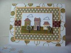 Polka Dot Neighbors: Stampin Up Good Neighbors new home card.