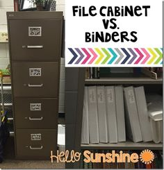 Where do you keep your materials?  Binder or file cabinet?  Here are some great ideas for each.