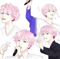 Pink baekhyun fanart♥