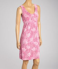 Look what I found on #zulily! Tea Rose Batik Flower Spotlight Sleeveless Dress by Fresh Produce #zulilyfinds