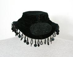 Vintage Victorian Steampunk Black Tilt Topper by vintagepursona, $35.00
