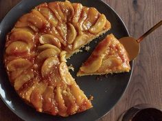 Maple-Apple Upside-Down Cake | This is one of the best upside-down cakes ever—the maple syrup infuses both the apples and the cake, making the dessert taste like a stack of apple ...