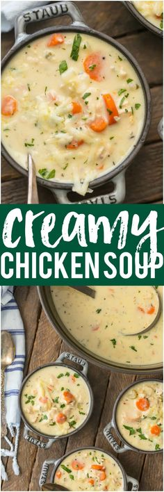 This CREAMY CHICKEN SOUP. This is the best soup ever. Easy.