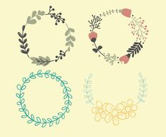 Starter for drawing a simple flower wreath