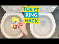 Chemical free trick to clean that nasty toilet bowl ring. - We've never heard of this trick, but woah! lean That Stubborn Toilet Bowl Ring for .25 Cents! Household Cleaning Tips, Toilet Cleaning, Bathroom Cleaning, House Cleaning Tips, Cleaning Hacks, Organizing Tips, Bathroom Organization, Spring Cleaning, Clean Toilet Bowl Stains