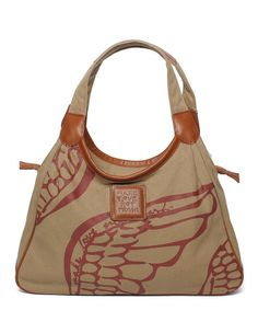 Take a look at this Sand Safari Wing Satchel by Make Love Not Trash on #zulily today!