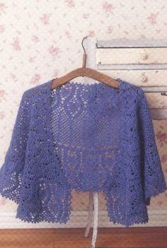 Crochet blue poncho ♥LCP-MRS♥ with basic diagrams. ---Связать шаль крючком