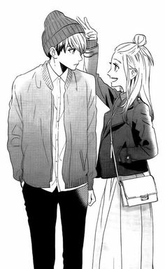 Tsubaki chou lonely planet I was waiting to them be a canon couple but i really like how they are Manga Anime, Anime Couples Manga, Cute Anime Couples, Anime Guys, Couple Manga, Anime Love Couple, Manga Romance, Tsubaki Chou Lonely Planet, Manga Love