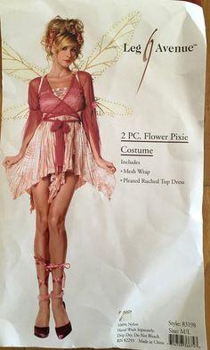 b15d3652a80 Leg Avenue 83198 Pink 2-Piece Flower Pixie Sexy Halloween Costume Size M L