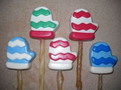 1 Dog Safe Chocolate gourmet christmas mitten Rawhide treats lollipop Lollipops
