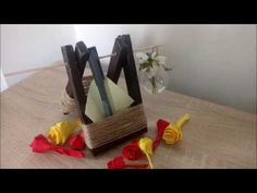 Hello everyone and welcome to a new video! Today's tutorial is about how to make a pencil holder from cardboards(reuse)♻️Suport de pixuri si flori din carton. Foto Frame, Pencil Holder, Hello Everyone, Wrapping, Napkins, Wraps, Make It Yourself, Box, Youtube