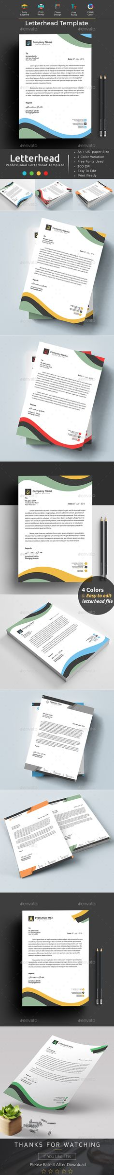 Letterhead Template Letterhead template, Stationery printing and - letterhead template